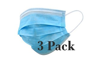 Face Mask Disposable 3-Ply - Package of 3